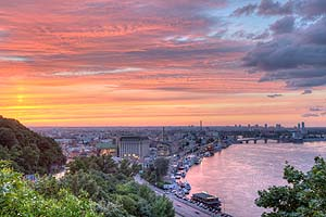[ru]Киев, закат на Днепре[en]Kyiv, Sunset on Dnieper