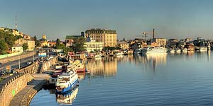 Ru киев набережная днепра en kyiv riverfront of