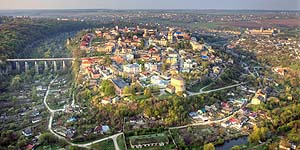 [en]Kamyanets-Podilskiy, view of Old Town and Old Fortress[ru]Каменец-Подольский, вид на Старый город и Старую крепость
